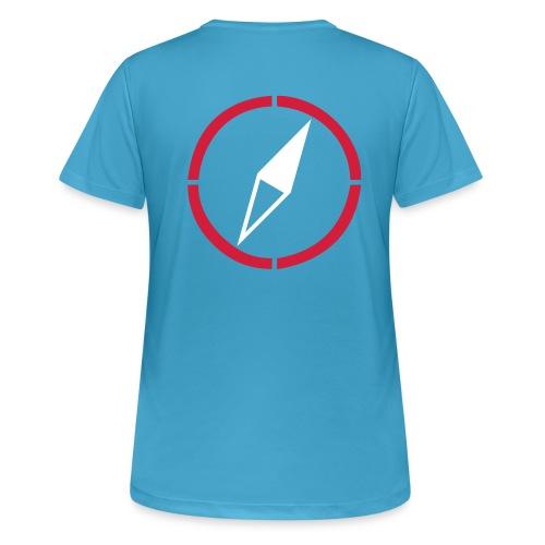 dogsports on track kompass - Frauen T-Shirt atmungsaktiv