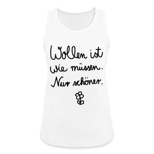 Wollen_ist_wie_muessen - Frauen Tank Top atmungsaktiv