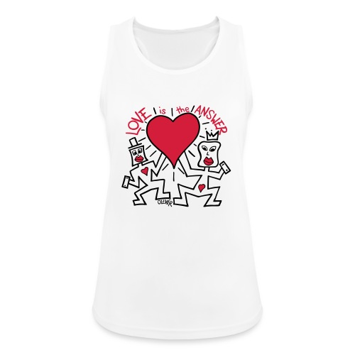 Love is the Answer by Oliver Schibli - Women's Breathable Tank Top