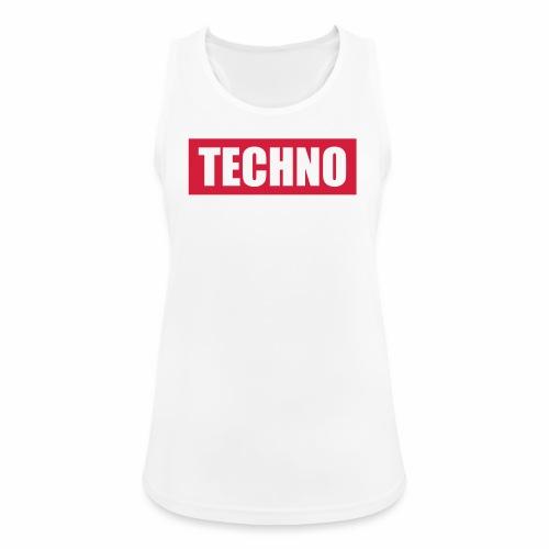 Techno Roter Balken Schriftzug Red Stripes Text - Frauen Tank Top atmungsaktiv