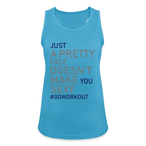 Just a pretty face... - Women's Breathable Tank Top
