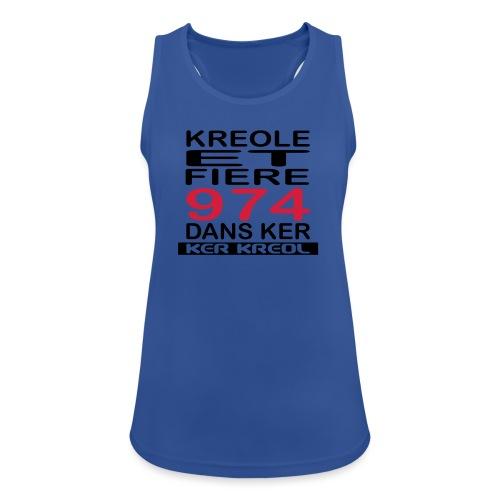 Kreole et Fiere - 974 ker kreol - Débardeur respirant Femme