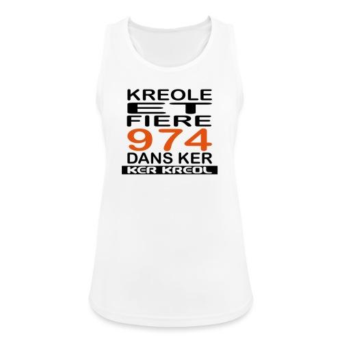 974 ker kreol - Kreole et Fiere - Débardeur respirant Femme