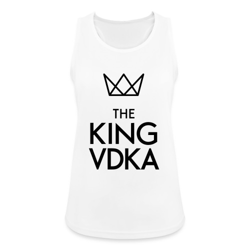 The King VDKA Logo schwarz RGB - Frauen Tank Top atmungsaktiv