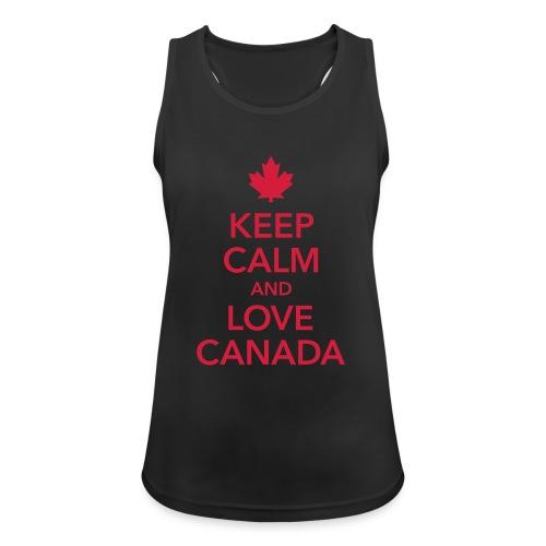 keep calm and love Canada Maple Leaf Kanada - Women's Breathable Tank Top