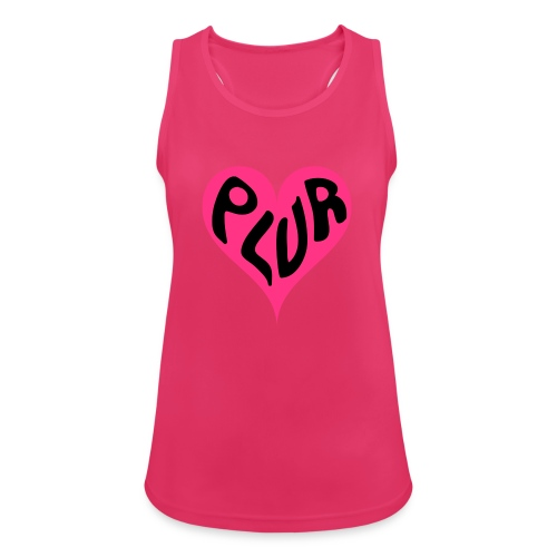 PLUR - Peace Love Unity and Respect love heart - Women's Breathable Tank Top
