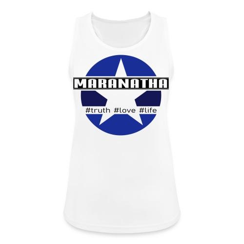 maranatha blau-braun - Frauen Tank Top atmungsaktiv