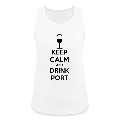 Keep Calm and Drink Port - Women's Breathable Tank Top