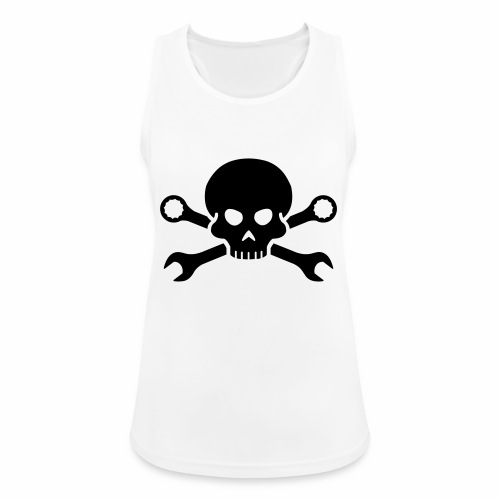 Skull'n'Tools Pirate Skull - Women's Breathable Tank Top