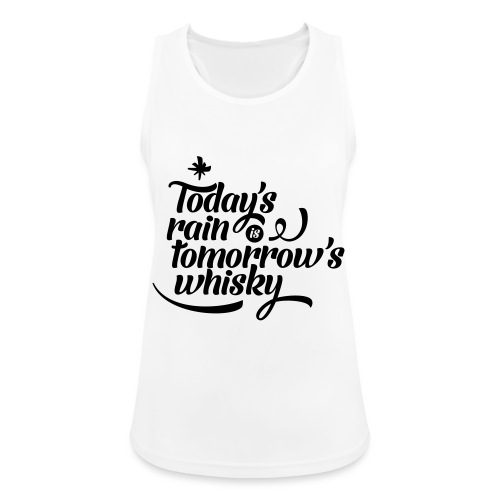 Todays's Rain Women's Tee - Quote to Front - Women's Breathable Tank Top