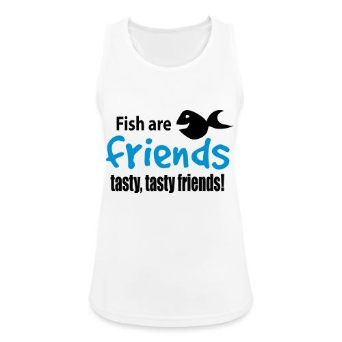 Fisk er venner - Pustende singlet for kvinner