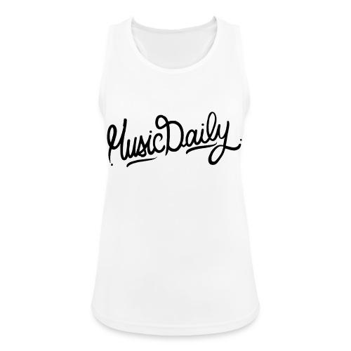 MusicDaily Logo - Vrouwen tanktop ademend actief