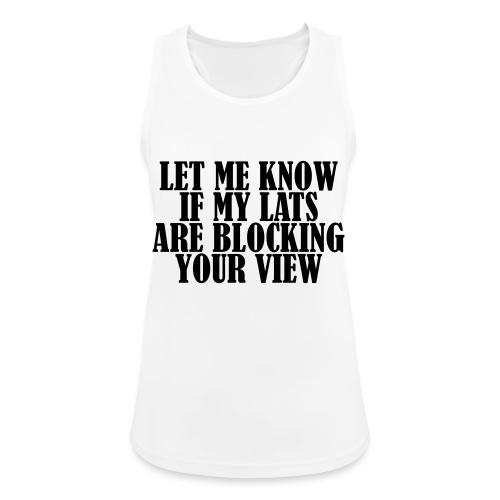 Lats Blocking View, Gym, Training, Fitness, Pain - Frauen Tank Top atmungsaktiv