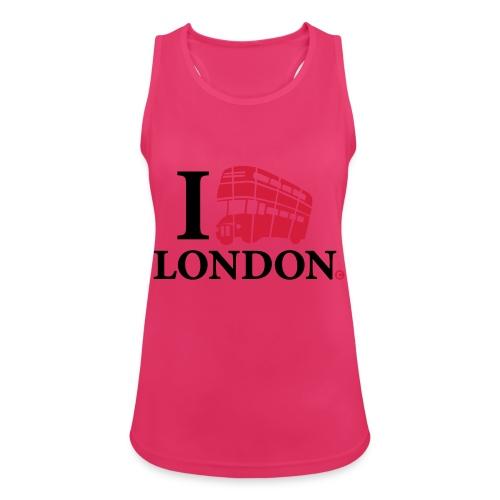 I love (Double-decker bus) London - Women's Breathable Tank Top