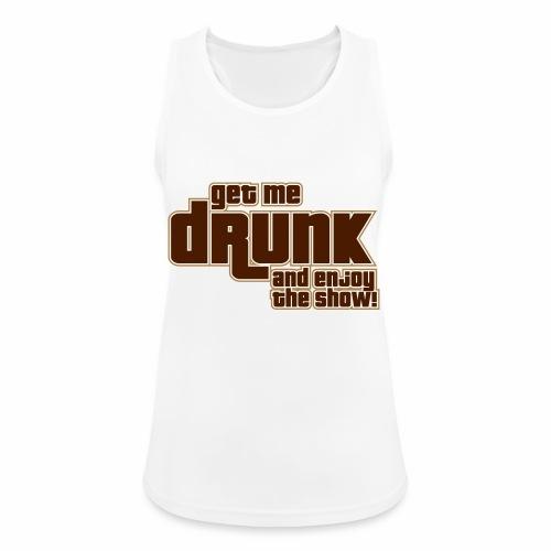 drunk - Top da donna traspirante