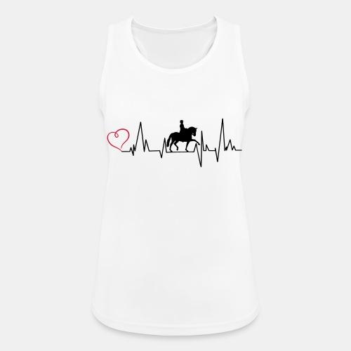 Heartbeat Dressurreiterin klassisch Herz - Frauen Tank Top atmungsaktiv