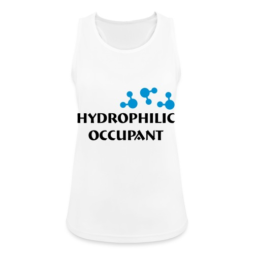 Hydrophilic Occupant (2 colour vector graphic) - Women's Breathable Tank Top