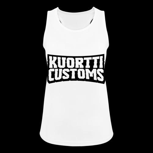 kuortti_customs_logo_main - Naisten tekninen tankkitoppi