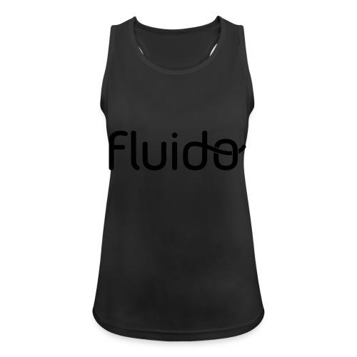fluidologo_musta - Naisten tekninen tankkitoppi