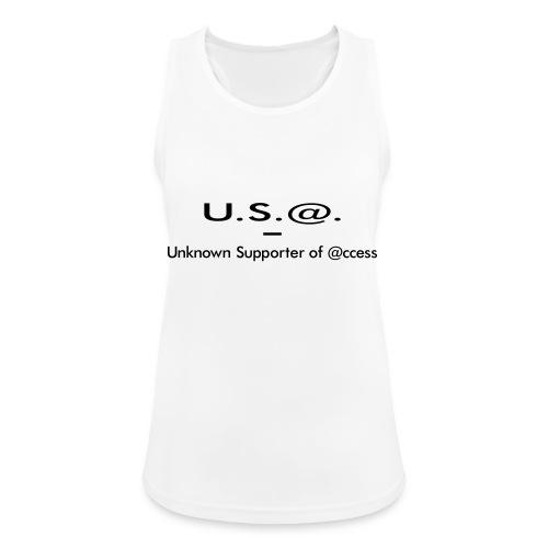 U.S.@. - Unknown Supporter of @ccess - Frauen Tank Top atmungsaktiv
