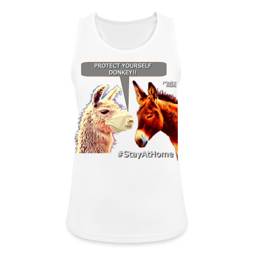Protect Yourself Donkey - Coronavirus - Women's Breathable Tank Top