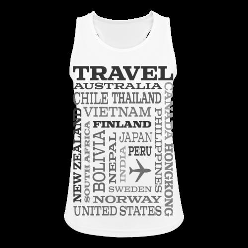 Travel Places Gray design - Naisten tekninen tankkitoppi