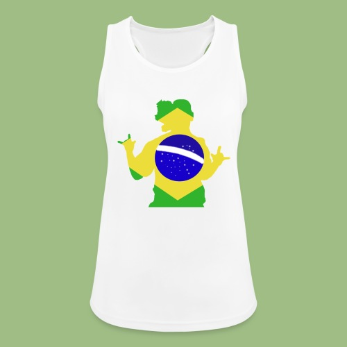 Ronaldinho Brazil - Andningsaktiv tanktopp dam