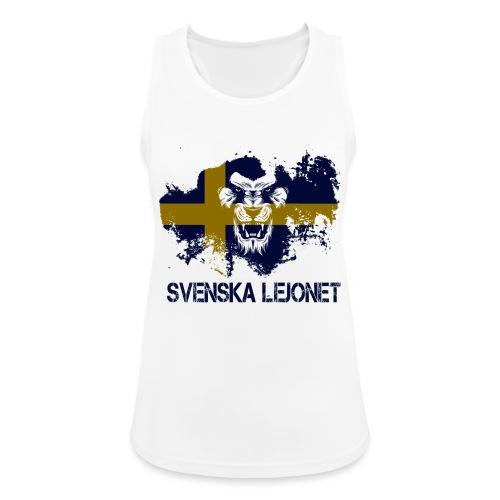 Svenska Lejonet Official Chest Logo - Andningsaktiv tanktopp dam