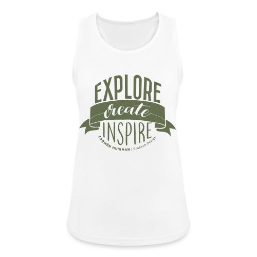 Explore, Create & Inspire Green - Vrouwen tanktop ademend actief