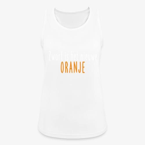 Zwart is het nieuwe oranje - Vrouwen tanktop ademend actief