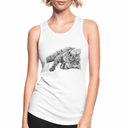 Petit chaton au crayon gris - Débardeur respirant Femme