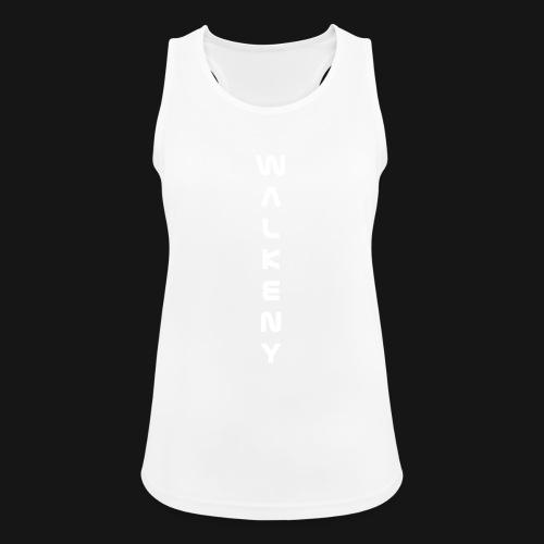 Walkeny Schriftzug vertikal in weiß - Frauen Tank Top atmungsaktiv