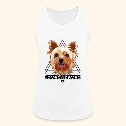 YORKIE LOVE FOREVER - Camiseta de tirantes transpirable mujer
