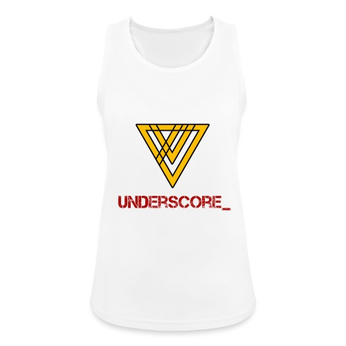 Underscore Yellow Red - Women's Breathable Tank Top