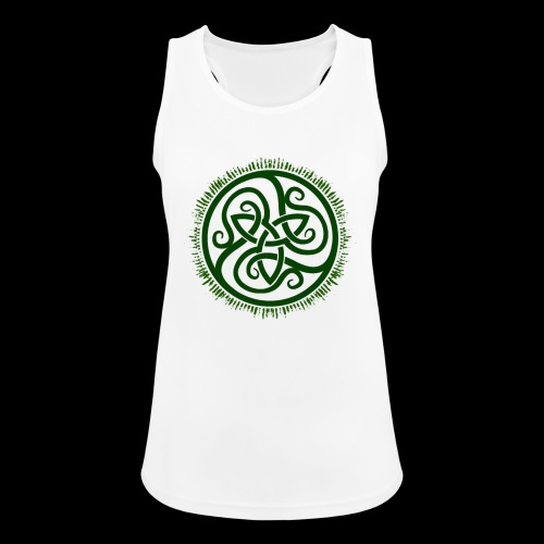 Green Celtic Triknot - Women's Breathable Tank Top