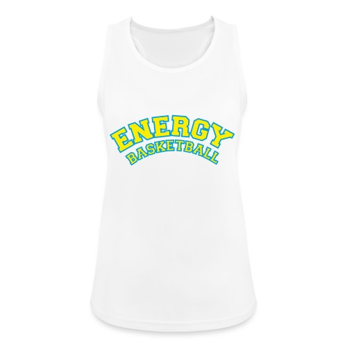 street wear logo giallo energy basketball - Top da donna traspirante