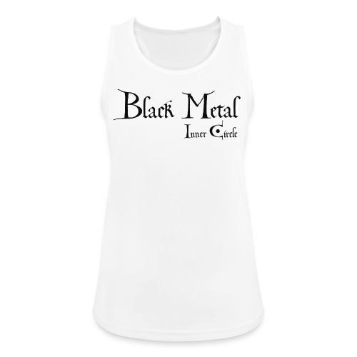 black metal Inner Circle, black ink - Women's Breathable Tank Top