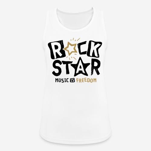rock star music freedom - Frauen Tank Top atmungsaktiv