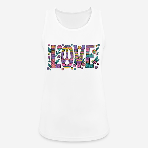 love peace hippie style - Frauen Tank Top atmungsaktiv