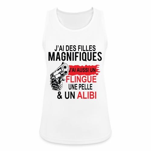J'AI DEUX FILLES MAGNIFIQUES Best t-shirts 25% - Débardeur respirant Femme