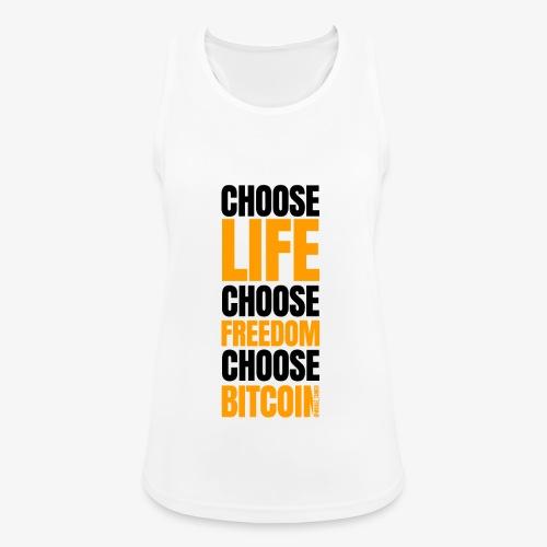 Logo choose bitcoin black 1 1 - Débardeur respirant Femme
