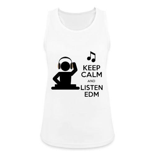 keep calm and listen edm - Women's Breathable Tank Top