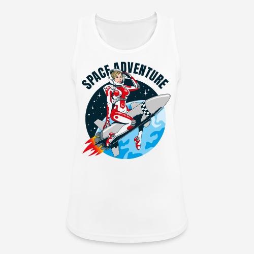 space adventure rocket girl - Frauen Tank Top atmungsaktiv