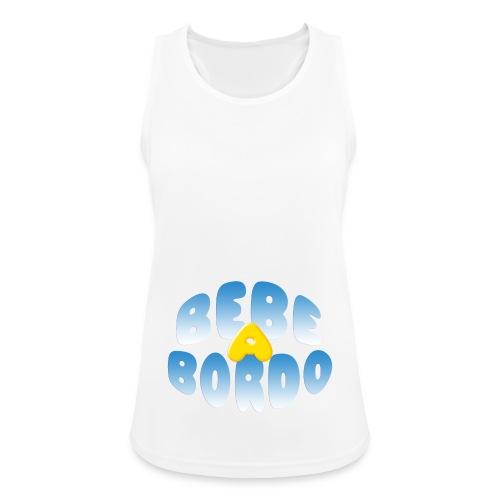 Bebé a bordo - Camiseta de tirantes transpirable mujer