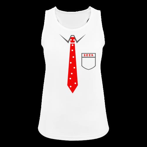 Geek | Schlips Krawatte Wissenschaft Streber - Frauen Tank Top atmungsaktiv