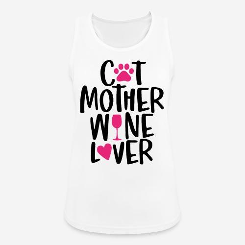 Katze Mutter Weinliebhaber - Frauen Tank Top atmungsaktiv