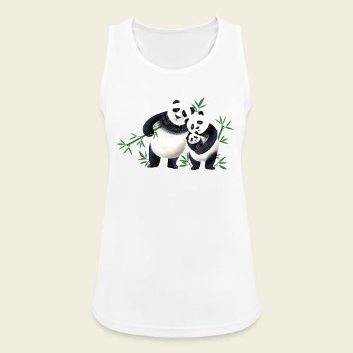Pandafamilie Baby - Frauen Tank Top atmungsaktiv