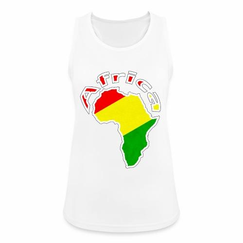 Afrika - rot gold grün - Frauen Tank Top atmungsaktiv