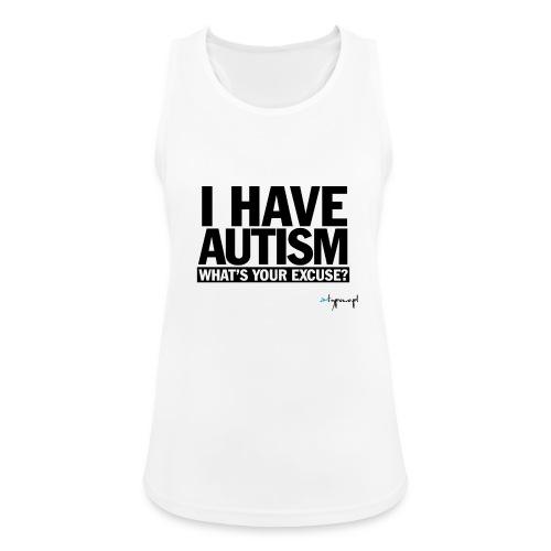 I have autism... (black) - Tank top damski oddychający