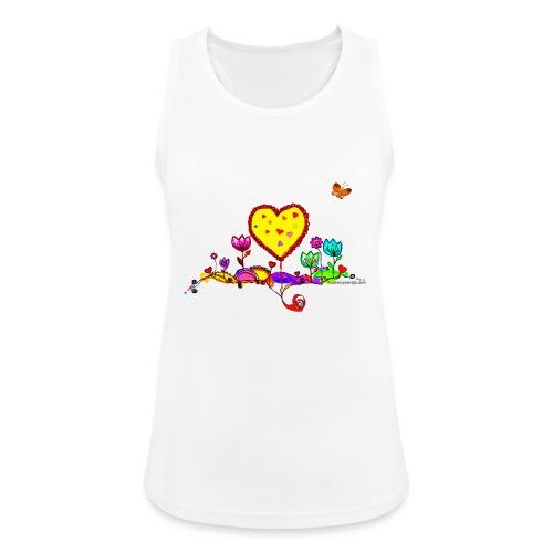 Blumengruß mit Herz - Frauen Tank Top atmungsaktiv